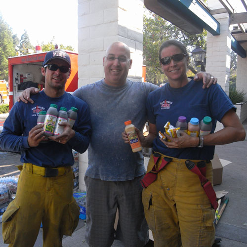 firefighters with juice