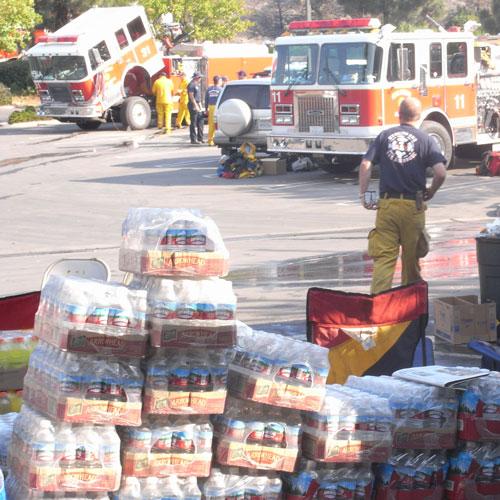 fire truck landscape