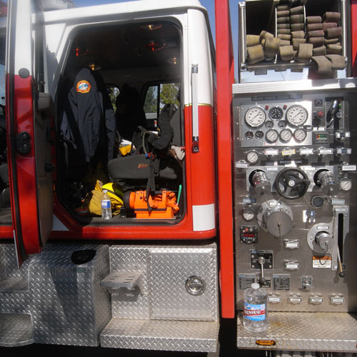 the inner workings of the fire truck