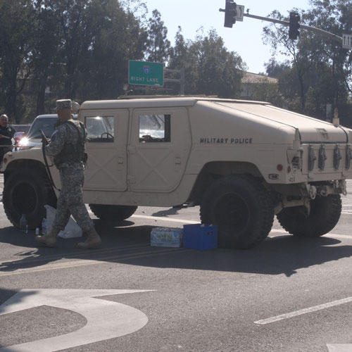 humvee on the street