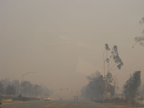 smokey air